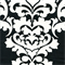 Berlin Shadow Black Slub Floral Drapery Fabric by Premier Prints Swatch