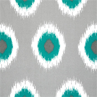 Ikat Domino Pacific Outdoor by Premier Prints Swatch
