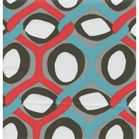 Rivers Calypso Red Geometric Outdoor Fabric by Premier Prints Swatch