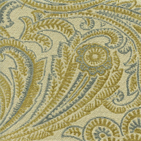 M9622 Seaglass Green Paisley Upholstery Fabric by Barrow Merrimac Swatch