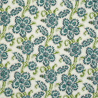 Riley Oxford Blue Floral Outdoor Fabric by Premier Prints Swatch