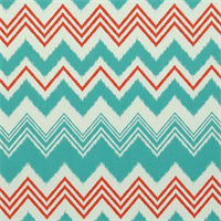Zazzle Calypso Blue Ikat Chevron Stripe Outdoor Fabric by Premier Prints
