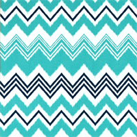 Zazzle Oxford Blue Ikay Chevron Stripe Outdoor Fabric by Premier Prints