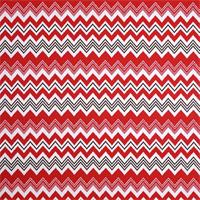 Zazzle Rojo Red Ikat Chevron Stripe Outdoor Fabric by Premier Prints