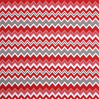 Zazzle Rojo Red Ikat Chevron Stripe Outdoor Fabric by Premier Prints Swatch
