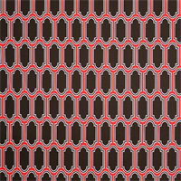 Fargo Bay Brown Geometric Outdoor Fabric by Premier Prints Swatch