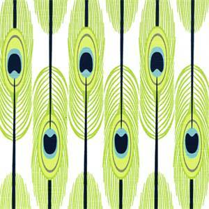 Feathers Canal Green Slub Drapery Fabric by Premier Prints