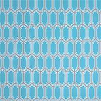 Fargo Ocean Blue Geometric Outdoor Fabric by Premier Prints Swatch