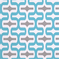 Embrace Storm Ocean Blue Gray Geometric Outdoor Fabric by Premier Prints