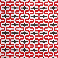 Embrace Rojo Red Geometric Outdoor Fabric by Premier Prints