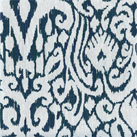 M9626 Aegean Blue Ikat Upholstery Fabric by Barrow Merrimac