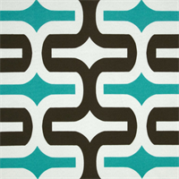 Embrace Ocean Blue Geometric Outdoor Fabric by Premier Prints Swatch