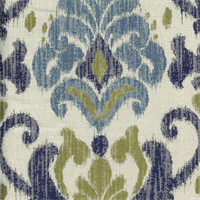 Kikori Tide Blue Ikat Drapery Fabric by Swavelle Mill Creek