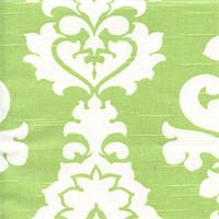 Berlin Kiwi Green Slub Floral Drapery Fabric by Premier Prints Swatch