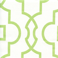 Bordeaux Kiwi Green Contemporary Print Drapery Fabric by Premier Prints Swatch