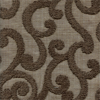 Loel Smoke Grey Embroidered Drapery Fabric by Swavelle Mill Creek