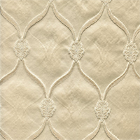 Lodi Ivory Faux Silk Drapery Fabric Swatch