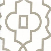 Bordeaux Ecru Grey Contemporary Print Drapery Fabric by Premier Prints Swatch