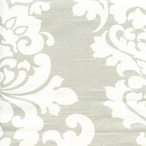 Berlin French Grey Slub Floral Drapery Fabric by Premier Prints 30 Yard Bolt
