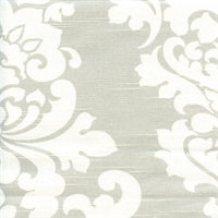 Berlin French Grey Slub Floral Drapery Fabric by Premier Prints