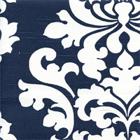 Berlin Premier Navy Slub Floral Drapery Fabric by Premier Prints 30 Yard Bolt