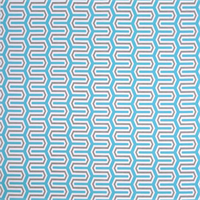 Outdoor Cade Ocean Blue Geometric Fabric by Premier Prints