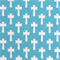 Outdoor Cross Ocean Blue Fabric by Premier Prints 30 Yard Bolt