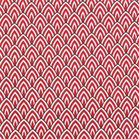 Outdoor Lalo Rojo Red Geometric Fabric by Premier Prints