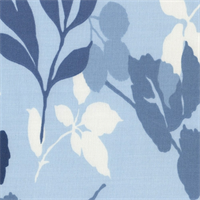 Sun-N-Shade Navy Floral Indoor/Outdoor Fabric by Waverly Swatch