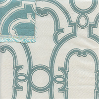 M9647 Riviera Blue Contemporary Reversible Upholstery Fabric by Barrow Merrimac Swatch