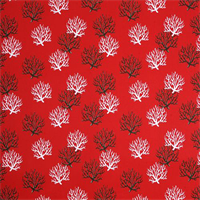 Outdoor Isadella Rojo Red Coral Fabric by Premier Prints Swatch