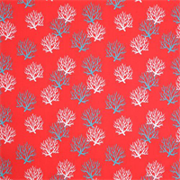 Outdoor Isadella Calypso Red Coral Reef Fabric by Pemier Prints