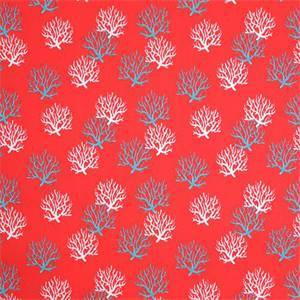 Outdoor Isadella Calypso Red Coral Reef Fabric by Pemier Prints 30 Yard Bolt