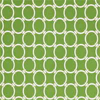 Outdoor Linked Bay Green Geometric Fabric by Premier Prints