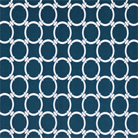 Outdoor Linked Oxford Blue Geometric Fabric by Premier Prints