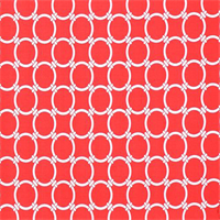 Outdoor Linked Calypso Red Geometric Fabric by Premier Prints