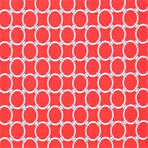 Outdoor Linked Calypso Red Geometric Fabric by Premier Prints 30 Yard Bolt