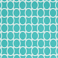 Outdoor Linked Ocean Blue Geometric Fabric by Premier Prints