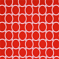 Outdoor Linked Rojo Red Geometric Fabric by Premier Prints