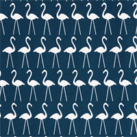 Outdoor Flamingo Oxford Blue Bird Print Fabric by Premier Prints