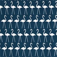 Outdoor Flamingo Oxford Blue Bird Print Fabric by Premier Prints Swatch