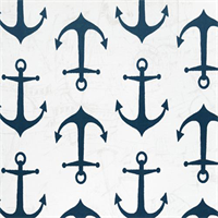 Outdoor Anchors Oxford Blue Fabric by Premier Prints