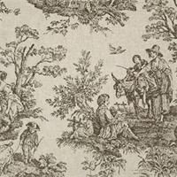 Colonial Black/Linen by Premier Prints - Drapery Fabric