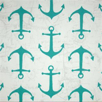 Outdoor Anchors Ocean Blue Fabric by Premier Prints