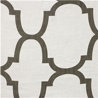 Moroccan Tile Brown Contemporary Linen Drapery Fabric 2 Yard Piece