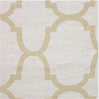 Moroccan Tile Beige Tan Contemporary Linen Drapery Fabric 2 Yard Piece