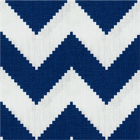 Peeking Chevron Blue Linen Drapery Fabric 2 Yard Piece