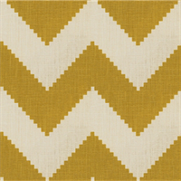 Peeking Chevron Yellow Linen Drapery Fabric 1 Yard Piece