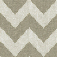 Peeking Chevron Grey Linen Drapery Fabric 1 Yard Piece