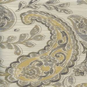 Linville Granite Gray Paisley Upholstery Fabric